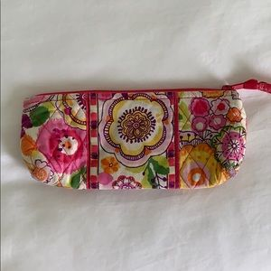 Vera Bradley Makeup or Pencil Pouch in Clementine